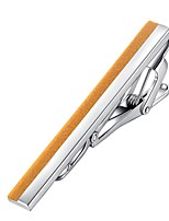 cheap -Mini Silver Yellow Tie Clips Gold Plated Classic European Party Daily Men's Costume Jewelry