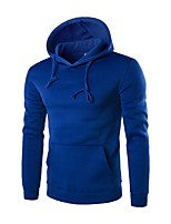 cheap -Men's Street chic Hoodie - Solid Colored
