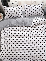 cheap -Duvet Cover Sets Geometric 3 Piece Poly/Cotton Polyster Reactive Print Poly/Cotton Polyster 1pc Duvet Cover 1pc Sham 1pc Flat Sheet