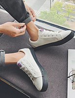 cheap -Men's Shoes Canvas Spring Fall Comfort Sneakers for Casual White