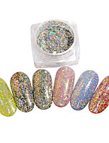 cheap -1pcs Glitter Powder Mirror Effect Nail Glitter Nail Art Design