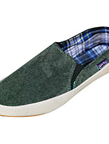 cheap -Men's Shoes Canvas Spring Fall Comfort Loafers & Slip-Ons for Casual Black Brown Red Green