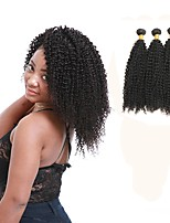cheap -Peruvian Kinky Curly Human Hair Weaves 3pcs 0.3