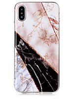 abordables -Funda Para Apple iPhone X iPhone 8 IMD Diseños Funda Trasera Mármol Brillante Suave TPU para iPhone X iPhone 8 Plus iPhone 8 iPhone 7