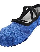cheap -Children's Ballet Sparkling Glitter Flat Practice Flat Heel Blue Customizable