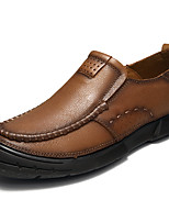 cheap -Men's Shoes Nappa Leather Spring Fall Comfort Loafers & Slip-Ons for Casual Office & Career Brown Khaki