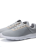 preiswerte -Herrn Schuhe Tüll Frühling Sommer Komfort Sneakers für Normal Draussen Schwarz Grau Blau