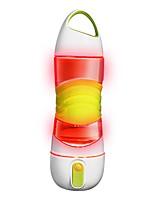 Недорогие -Бутылки для воды Сияющий в темноте Пульвелизатор Противозаносный SOS Аварийное освещение BPA Free Полипропилен + ABS Силиконовые для