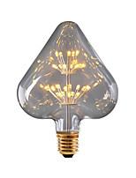 baratos -BRELONG® 1pç 3W 300 lm E26/E27 Lâmpada Redonda LED 30 leds SMD Estrelado Decorativa Amarelo 220-240V