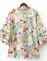 cheap -Women's Basic Shirt - Floral