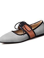cheap -Women's Shoes Nubuck leather Spring Fall Novelty Flats Flat Heel Pointed Toe for Casual Black Gray Pink