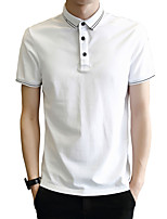 cheap -Men's Sports Business Street chic Cotton Slim Polo - Solid Colored, Print Shirt Collar