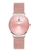 abordables -Hombre Reloj de Moda Reloj Casual Japonés Cuarzo Esfera Grande Reloj Casual Acero Inoxidable Banda Lujo Elegant Oro Rosa