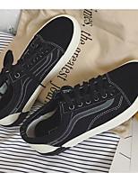 abordables -Homme Unisexe Chaussures Toile Printemps Automne Confort Basket pour Décontracté Noir/blanc
