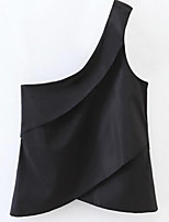 cheap -Women's Going out Holiday Simple Slim Tank Top - Solid Colored One Shoulder