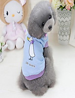 cheap -Dogs Sweatshirt Dog Clothes Casual/Daily Cute Style Animal Print Purple Blue Costume For Pets