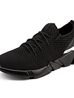 cheap -Men's Shoes Knit Spring Fall Comfort Sneakers for Casual Outdoor Black Gray Black/White
