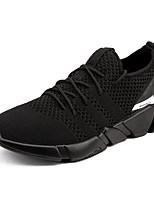 baratos -Homens sapatos Tricô Primavera Outono Conforto Tênis para Casual Ao ar livre Preto Cinzento Branco/Preto