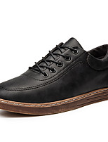 cheap -Men's Shoes PU Fall Comfort Oxfords for Casual Office & Career Black Coffee Brown