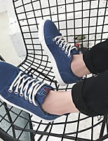 cheap -Men's Shoes Canvas Spring Fall Comfort Sneakers for Casual Blue