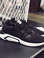 cheap -Men's Shoes Fabric Spring Fall Comfort Sneakers for Casual White Black Black/White