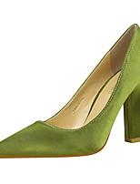 preiswerte -Damen Schuhe Lycra Frühling Sommer Pumps Komfort High Heels Blockabsatz Geschlossene Spitze Spitze Zehe für Büro & Karriere Party &