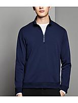 cheap -Men's Slim Sweatshirt - Solid