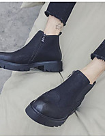 cheap -Men's Shoes Synthetic Microfiber PU Winter Fall Combat Boots Comfort Boots Booties/Ankle Boots for Casual Black