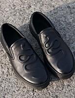 Недорогие -Муж. обувь Кожа Наппа Leather Весна Осень Удобная обувь Мокасины и Свитер для Повседневные Белый Черный