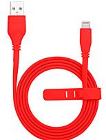 Недорогие -Подсветка Адаптер USB-кабеля Компактность Быстрая зарядка Назначение iPhone 100 cm Пластик ПВХ