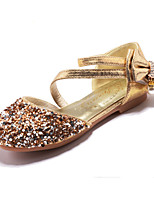 cheap -Girls' Shoes Sparkling Glitter Spring Fall Flower Girl Shoes Comfort Sandals Rhinestone Bowknot Buckle for Wedding Dress Gold Silver Pink