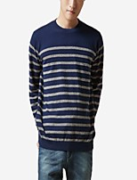 cheap -Men's Pullover - Striped Round Neck