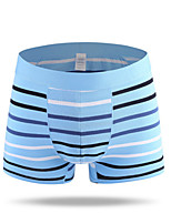 cheap -Men's Boxers Underwear Striped Mid Rise
