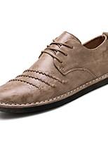 abordables -Homme Chaussures PU de microfibre synthétique Printemps Eté Confort Basket pour Décontracté De plein air Blanc Noir Rouge Kaki