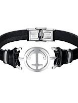 preiswerte -Herrn Leder Armband - Freizeit Cool Irregulär Schwarz Armbänder Für Alltag Verabredung