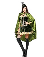 cheap -Super Heroes Princess Dress Cosplay Costume Halloween Carnival New Year Festival / Holiday Halloween Costumes Green Color Block Other