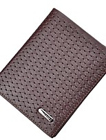 cheap -Men's Bags Cowhide Wallet Embossed for Shopping Casual All Seasons Coffee