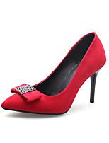 preiswerte -Damen Schuhe Beflockung Frühling Sommer Pumps High Heels Stöckelabsatz Spitze Zehe Kristall Schleife für Büro & Karriere Party &