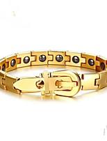 preiswerte -Herrn Schwarzer Matt 1pc Ketten- & Glieder-Armbänder - Modisch Geometrische Form Gold Silber Armbänder Für Party Geschenk