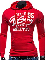 cheap -Men's Plus Size Sports Casual Active Long Sleeves Loose Hoodie - Solid Colored Hooded