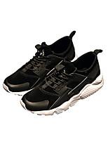 Недорогие -Муж. обувь Ткань Весна Удобная обувь Кеды для Повседневные Черный Черно-белый