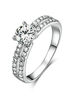 cheap -Women's Band Ring Silver Gold Plated Elegant Wedding Engagement Costume Jewelry
