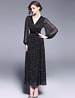 cheap -SHIHUATANG Women's Vintage Swing Dress - Abstract, Mesh