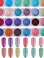 Недорогие -24 Порошок блеска блестит Роскошь Советы для ногтей Дизайн ногтей