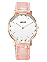 cheap -Women's Quartz Fashion Watch Sport Watch Casual Watch Chinese Casual Watch Genuine Leather Band Casual Fashion Grey Pink