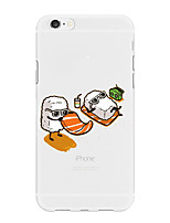 abordables -Coque Pour Apple iPhone X iPhone 8 Plus Motif Coque Nourriture Bande dessinée Flexible TPU pour iPhone X iPhone 8 Plus iPhone 8 iPhone 7