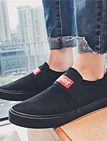 Недорогие -Муж. обувь Дерматин Тюль Зима Осень Удобная обувь Кеды Для прогулок для Атлетический Повседневные Черный Черно-белый