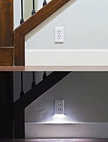 Недорогие -2pcs Розетка LED Night Light Белый Управление освещением Безопасность