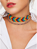 cheap -Women's Double Layered Bohemian Choker Necklace Layered Necklace - Double Layered Bohemian Tube Necklace For Going out Holiday