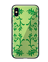 baratos -Capinha Para Apple iPhone X iPhone 8 Estampada Capa traseira Plantas Rígida Vidro Temperado para iPhone X iPhone 8 Plus iPhone 8 iPhone 7